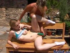 Tanya got with Kate for a dastardly dildo session