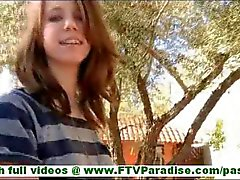 tiffany stunning brunette with amazing body walking in public and flashing panties clip