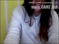 Nena colombiana muestra el pezon y la cola por cam-Webcams from camz