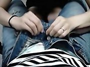 Curvy young Korean spreads her legs to have her soft muff w