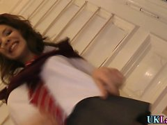 Heeled teen assfingered