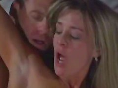 Hot blonde satisfying older master