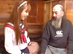 A Japanese Teen Pleasing Old Men