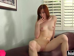 Kira Lake enjoys a big hard boner