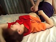 Sexy young Hikaru gets her tight trimmed pussy stretched