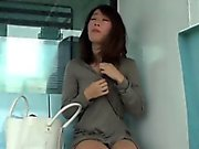 Asian publicly flashes