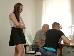DADDY4K. Slutty girl fucked by horny old dad behind...