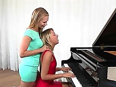 Horny Teen Lesbian Seduces Her Piano Teacher