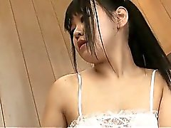 Sweet teen Yayoi Yanagida takes a very sexual shower pinching her nipples and fingering her pussy