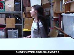 ShopLyfter - Cute Teen Megan Sage Fucked By 2 Huge Cocks