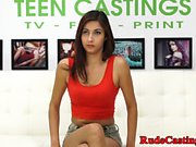 Real young beauty roughfucked at bdsm casting