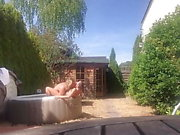 Real amateur homemade sex tape in pool with teen