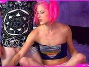 Beauty Ebony Teen Webcam toying
