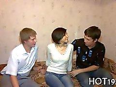 Stranger bangs a cute Russian girl