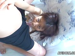 Eating that Asian's pussy as she sucks a cock