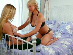 Sexy Lesbians Sarah Vandella And Molly Mae