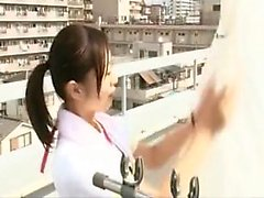 Alluring Japanese babe exchanges oral pleasures with a horn