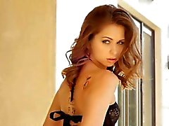 Luxury black lingerie on beautiful woman