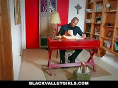 BlackValleyGirls - Hot Ebony Schoolgirl Sneaks Around For Sex