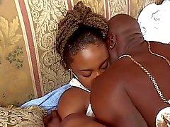 Teen ebony craves a big cock