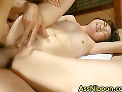 Cute Asian Babe in Hot Gang Bang Anus part2