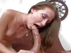 Cute brunette Hailey Young throated by by dick