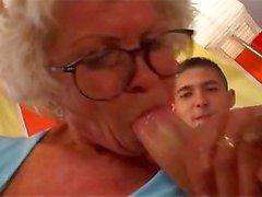 Short sighted grannys loves hard sex