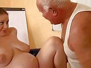 Grandpa fucks a pregnant girl