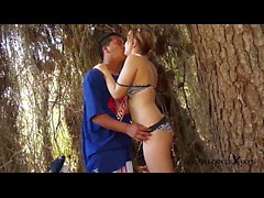 Hot teen couple fucking on the beach - Jose y Merce