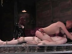 Horny babe gets dominated in various positions