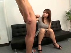 Japanese teen in blowjob and doggy