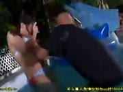 Japanese teen loving hardcore group sex with older men