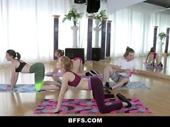 BFFS - Teens Fuck Creepy Yoga Dude
