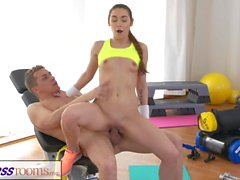 FitnessRooms Two teen gym bunnies get fucked after gym class