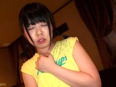 Japanese teen gives the perfect blowjob