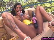 Sweet babe Bonnie Rotten being stretched out