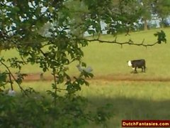Holland Countryside Natural Dutch Teen Fuck