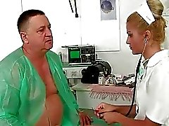 Grandpa fucking and pissing on young doctor