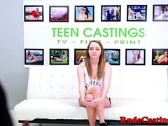 Tattooed teen roughly fucked while gagging