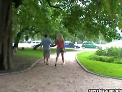 Old Fart Fucks Blonde Teen At The Park