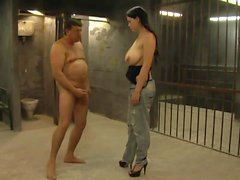 Young Hooker With Big Tits Fucks Old Man