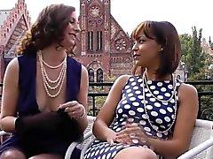 British mature fingering with lesbian