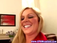 CFNM milfs suck and fuck their young studs hard dick