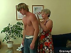 Hot guy shags lonely granny