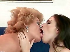 Grannies and Young Girls Lesbian Compilation