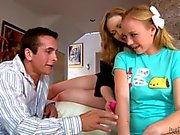 Teenage babysitter Tracey Sweet getting shared