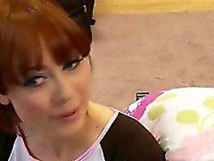 Slutty schoolgirl turns innocent ginger in a filthy slut