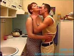 Amateur - Young dude and older woman