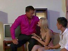 Kinky guy enjoy watching his wife getting fucked