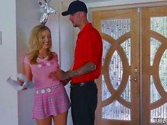 Teen Karla Kush fucks with golf instructor